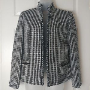 Tahari Arthur S. Levine Women Blazer Tweed Career